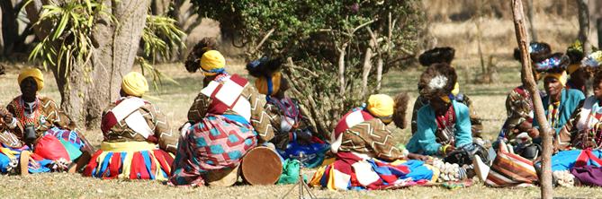 Moletele community traditional dancers