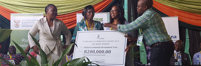 Maitjene Community Development Trust 1st prize winners 2015
